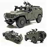 YXYOL Simular Carro de ejército de Coches de Juguete blindada, Diecast Metal Modelo vehículo Militar con el Sonido y la luz del LED, Niños Regalos Display Metal Modelo de Juguete, 1: 32