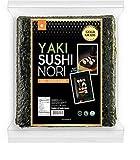 Organic Yaki sushi nori(NuEats), 10 Full sheet, Gold Grade, Roasted seaweed, Product of South Korea, USDA Organic, Vegan, Kosher, Premium quality