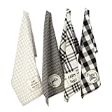DII Home Sweet Farmhouse Kitchen Textiles Collection Stylish and Functional for Everyday Use, Dishtowels Set, 18X28, Assorted 4 Count