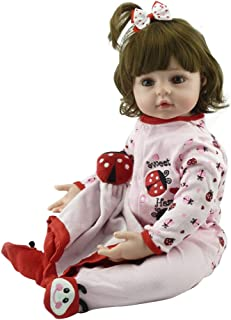 W-Fight 24in Reborn Doll Realistic Soft Silicone Vinyl Newborn Babies Toy Girl Princess Clothes Lifelike Handmade, A Perfect Sleeping Partner or Friend for Children