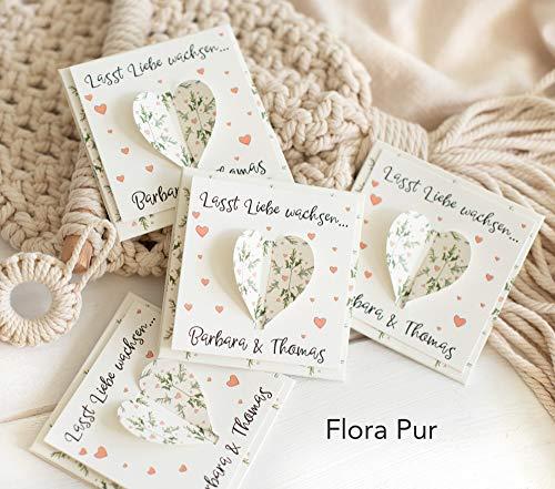 Gastgeschenk zur Hochzeit Personalisiert inkl. Blumensamen - Herzform