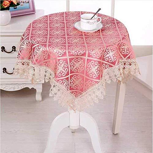 Benbroo tafelkleed voor kleine, ronde tuintafel, bloemenpatroon, met servetten, dik, rechthoekig
