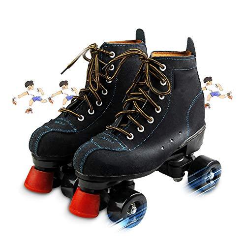 LRZ Quad Rollschuhe Für Jugendliche Und Erwachsene Artistic Zweireihige Skateboard Schuhe Mit PU Rädern Indoor Outdoor Sportschuhe,43