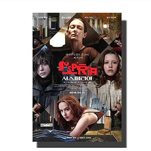 Horrorfilm Suspiria Filmplakat Gemälde Druck Dekoration Raum Wandbild Druck auf Leinwand Wohnkultur -60x80cm Kein Rahmen
