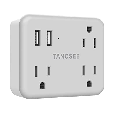 Multi-Plug Outlet Extender with Dual USB, TANOS...