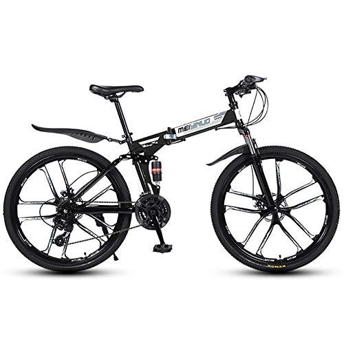liu Faltrad 21/24/27 Speed Mountainbike 26 Zoll 3/6/10/30/40-Speichen-Laufräder MTB Dual Suspension Fahrrad,10knives,24speed