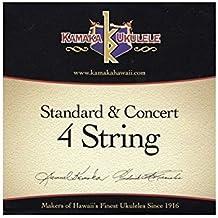 KAMAKA(カマカ) ウクレレ 弦セット(ソプラノ コンサート 兼用 ブラックナイロン S-1 Standard & Concert 4 Strings)