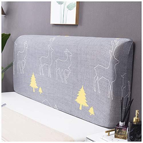 PPGE Home Funda para Cabecero De Cama Estirable, Todo Incluido A Prueba De Polvo Cubierta de Cabecera, Usado para Decoración De Dormitorio, Lavable #3-170~190CM