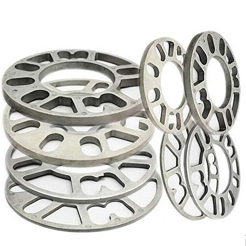 Separadores de Rueda,4Pcs Aleación De Aluminio 4 Y 5 Lug 3/5 / 8/10 / 12 mm Espesor Junta De Espaciador De Rueda para Universal Coche Auto (3mm)