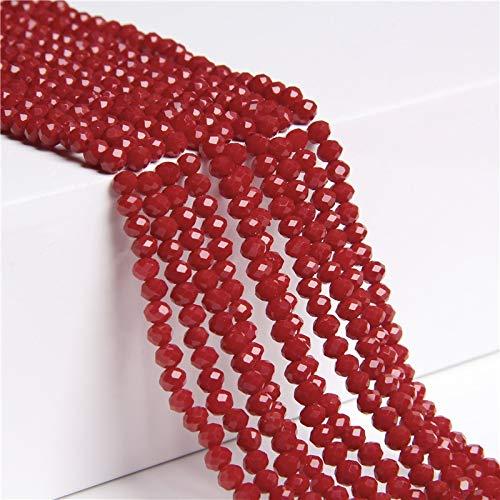 KUQIQI Beads de Cristal Multicolor de 4 mm de 4 mm, Cuentas Redondas Sueltas Redondas, usadas para joyería Haciendo Pulsera al por Mayor (Color : Type 15, Talla : 4mm)