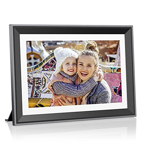 Atatat 32GB WiFi Digital Picture Frame 10.1 inch, No Transfer Data Limit, IPS Touch Screen, Digital Photo Frame Share Photos via App, Email, Easy Set Up and Photo Delete, Auto-Rotate