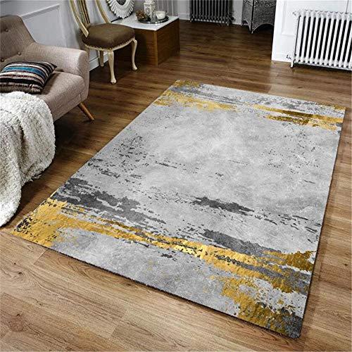 WQ-BBB Non-Slip dosen't shed Carpet Graffiti abstract design Modern Style Rugs brown gray kitchen carpet 160X230cm