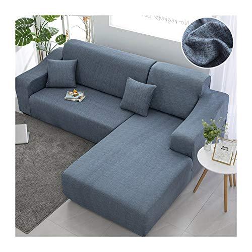 Chaise Longue Sofá necesito comprar 2 unids cubierta de sofá Cubiertas para sala de estar Significadores elásticos para el sofá Tapa de la esquina de la esquina de la cubierta de sofá en forma de L