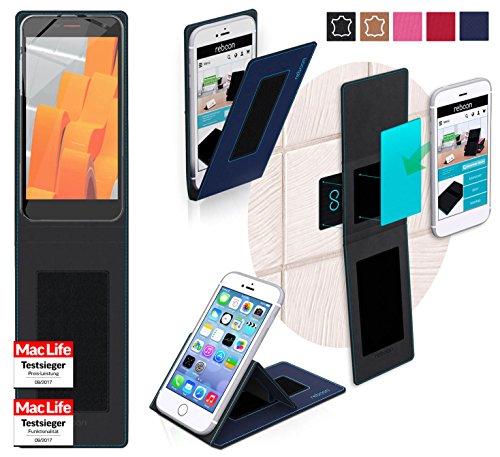 reboon Hülle für Wileyfox Spark+ Tasche Cover Case Bumper | Blau | Testsieger