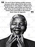 Wee Blue Coo LTD NO ONE is Born Hating Nelson Mandela BW
