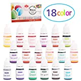 Wtrcsv Seifenfarbe Set 90ml(18er×5ml), Epoxidharz Farbe, Hautverträglich FDA Kosmetik Zertifikat,...