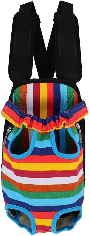 Jian E& Pet Bag  Dog Cat Backpack Pet Bag Out Shoulder Bag Teddy Bear Bear Dog Chest Bag Portable Outing Supplies (color   F, Size   Package Length 30CM)