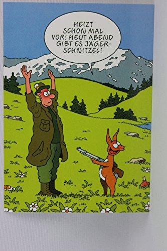 Postkarte A6 • 19117 ''Jägerschnitzel'' von Inkognito • Künstler: Tetsche • Satire • Cartoons • Ostern