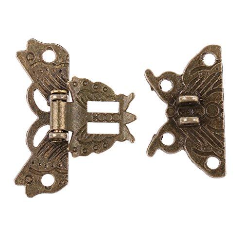 perfk Cierre de Cierre Mariposa Retro Decoración Metálica Cajón Gabinete Caja Joyería Armario Armario