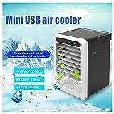 Mini Klimaanlage Mobile Klimagerät Air Cooler Persönliche Klimaanlage LED USB Kühler leise Ventilator Tragbarer klimaanlage ohne abluftschlauch Luftreiniger für Büro,Hotel,Küche