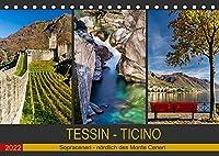Tessin - Ticino (Tischkalender 2022 DIN A5 quer): Der noerdliche Teil des Tessins, der sogenannte Sopraceneri (Monatskalender, 14 Seiten )