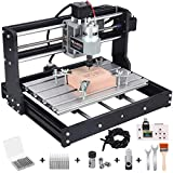 Upgraded Mcwdoit CNC 3018 Pro Router Kit 3 Axis GRBL Control Engraver Wood PCB PVC Carving Milling Engraving Machine with Offline Controller, 20 Pcs Router Bits, 2 Pcs ER11 Collects
