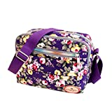 Daeum Lady Women Canvas Floral Handbag Shoulder Purse Messenger Satchel Crossbody Tote Bag