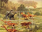 2005 Dinosaurs, Plateosaurus and Others, Prehistoric Animals, Collectible Sheet of 4 Stamps, Mint Never Hinged