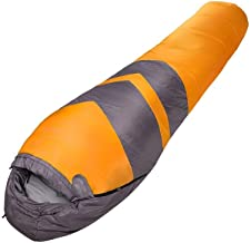 Asdfnfa Sleeping Bag, 1-2 Season Camping, Hiking, Traveling, Backpacking and Outdoor Activities (Single), 2 Way Zips Mummy Sleeping Bag