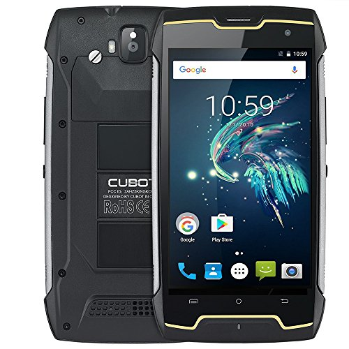 Cubot Kingkong IP68 Smartphone in offerta,Dual SIM Antipolvere e Impermeabile Antiurto  3G telefonia mobile,Android 7.0 Quad Core 5.0 polici HD 2GB RAM+16GB ROM,13MP+8MP Fotocamera,4400 mAh,GPS