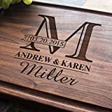Personalized Cutting Board, Custom Keepsake, Engraved Serving Cheese Plate, Wedding, Anniversary, Engagement, Housewarming, Birthday, Corporate, Closing Gift (#003)