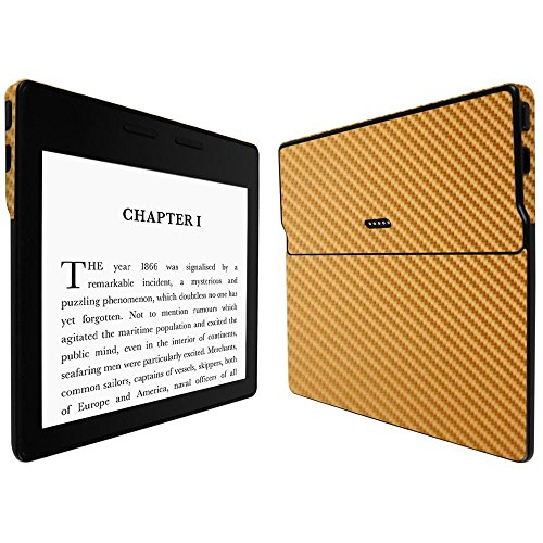 Skinomi Gold Carbon Fiber Full Body Skin Compatible with Amazon Kindle...