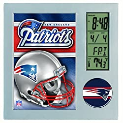 NFL New England Patriots Digital Desk Clock