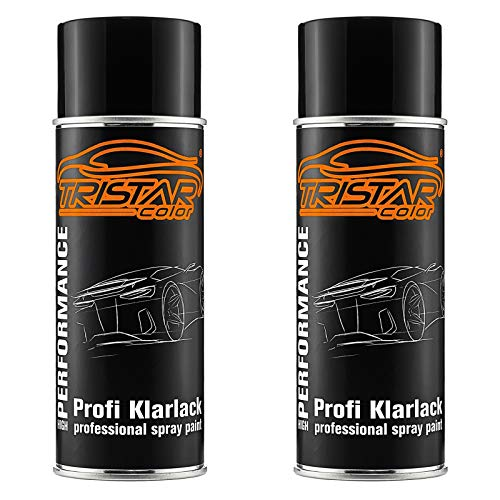 TRISTARcolor 2 x Spraydose Profi KLARLACK GLÄNZEND 400 ml Autolack Sprühdose