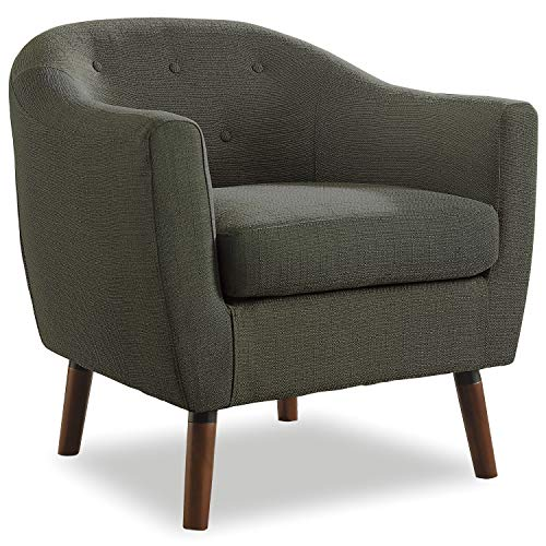 Homelegance Fabric Barrel Chair, Sage Gray