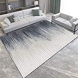 NF Alfombra grande, diseño geométrico 3D nórdico, alfombra para sala de estar, dormitorio, alfombra de área, lavable, alfombra antideslizante, alfombra pequeña de 120 x 160 cm
