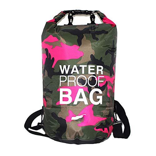 Vtops Multifunktionstasche für Sport, Outdoor, Camping, Radfahren, Angeln, wasserdicht, rosarot, 10 l