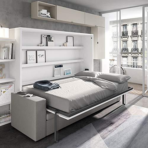 Meubles ROS Möbel, Rosen, horizontales Bett, mit integriertem Sofa und Truhe – 187,6 x 246 x 43 cm – Oregon/Tongrau