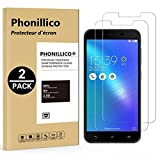PHONILLICO [Pack de 2] Verre Trempe ASUS ZENFONE 3 Max Plus ZC553KL 5.5' - Film Protection Ecran Verre Trempe [Lot de 2] Vitre...