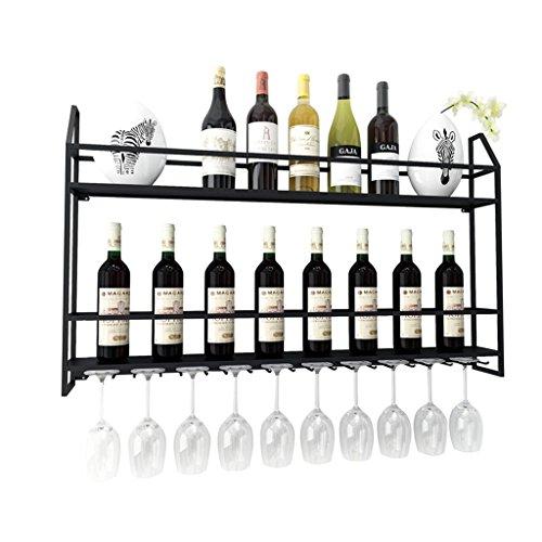 Support de mur de support de vin européen Free Standing Metal | LOFT Support de rangement pour étagère murale Vintage mural | Porte-bouteille à vin Cube | Décoration murale Design Vintage