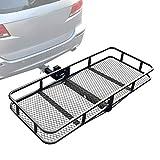 Leadpro Hitch Mount Cargo Basket Folding Cargo Carrier Luggage Basket...