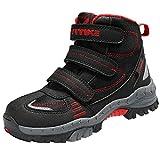 Botas de Senderismo Zapatos de Algodón Botas para la Nieve Botas de Invierno para Unisex Niños, 37 EU, 3 Rojo