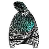 XDJSD Camisa Deportiva para Hombre Suéter con Capucha Chaqueta Deportiva De Gran Tamaño Sudadera con Capucha con Estampado Abstracto En Blanco Y Negro Suéter De Manga Larga Otoño E Invierno