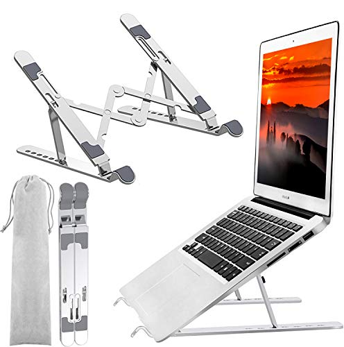 Laptop Stand,Portable Laptop Stand,Laptop Holder Riser Computer Stand Foldable Adjustable 7Angle Ergonomic Aluminum Notebook Stand