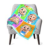 Coco T Melon Baby Blanketry Double Layer Blanket Super Soft Receiving Blanketry for Crib Travel Stroller Decorative One Size