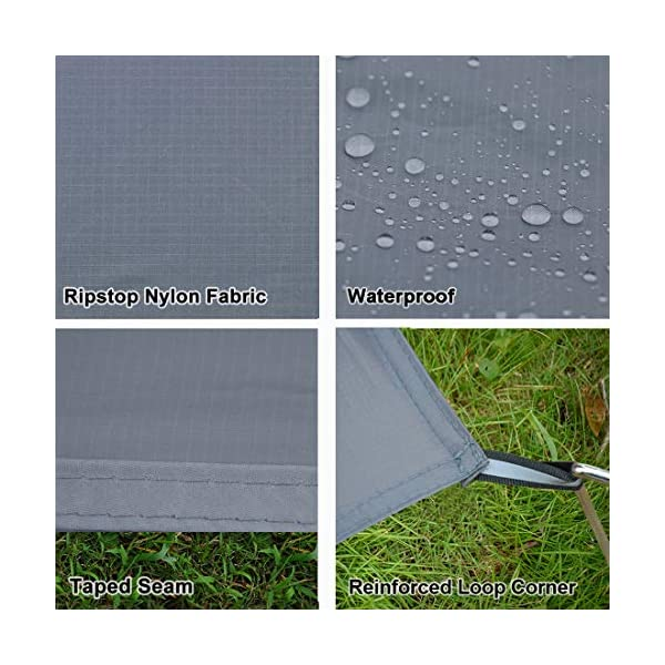 GEERTOP 1-3 Person Ultralight Waterproof Tent Tarp Footprint Ground Sheet Mat - For Camping Hiking Picnic 2