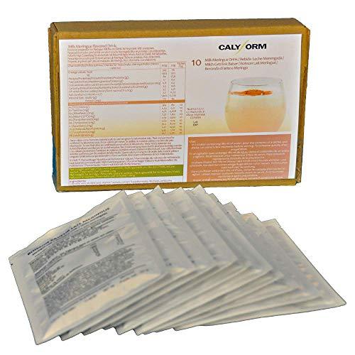 CALYFORM Frullato Proteico Proteine in Polvere per Dimagrire Velocemente (in Bustine Monodose) Shake Frullati Proteine Bevande Dietetiche Proteine Perdita Peso (Latte e Meringa, 10 bustine)
