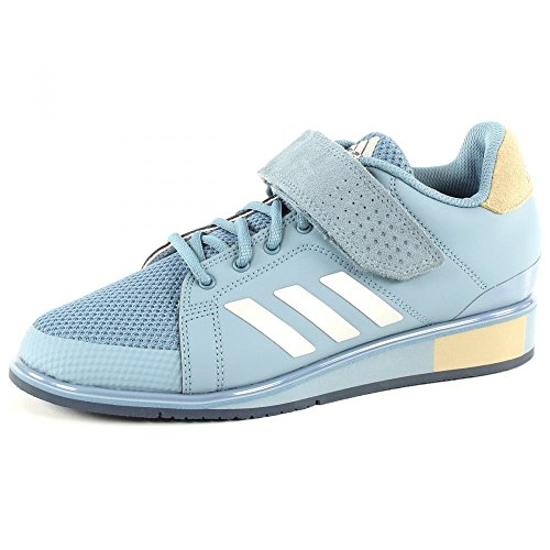 adidas Men's Power Perfect III Fitness Shoes, Grey Rawgre Silvmt Rawgol, 3.5 UK