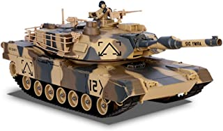 MCJL Large Army Tank Toy, 1:24 Wireless Remote Control Military Model Remote Gift for Boys and Children can Play Bomb Control Tank Toys,desertcolor