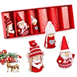 O-Kinee Decoración Navidad Divertidas muñecas Hechas a Mano 2021, 6 Piezas Set de muñecas de Navidad para hogar decoración de Fiestas 8 cm